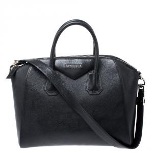 Givenchy Black Leather Large Antigona Satchel