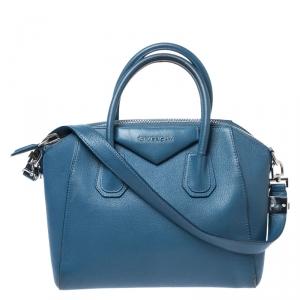 Givenchy Blue Leather Small Antigona Satchel