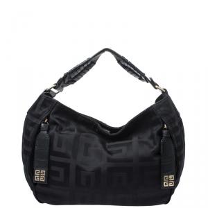 Givenchy Black Signature Nylon and Leather Hobo