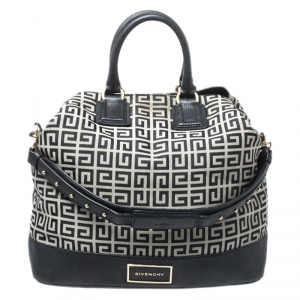 Givenchy Grey/Black Monogram Canvas and Leather Tote