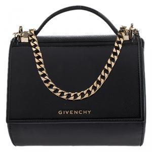 Givenchy Black Patent Leather Mini Pandora Box Crossbody Bag