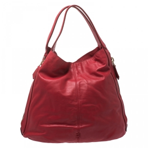 Givenchy Red Leather Side Zip Tote