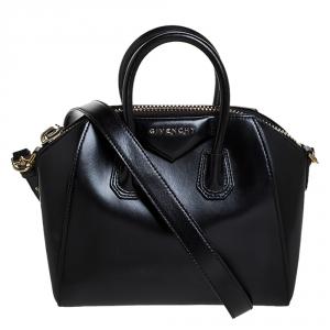 Givenchy Black Leather Mini Antigona Satchel