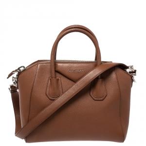Givenchy Brown Leather Small Antigona Satchel