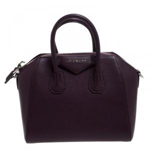 Givenchy Purple Leather Mini Antigona Satchel