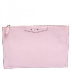 Givenchy Baby Pink Leather Antigona Zip Clutch