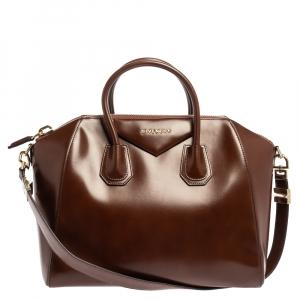 Givenchy Brown Leather Medium Antigona Satchel