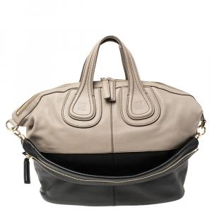 Givenchy Beige/Black Leather Medium Nightingale Satchel