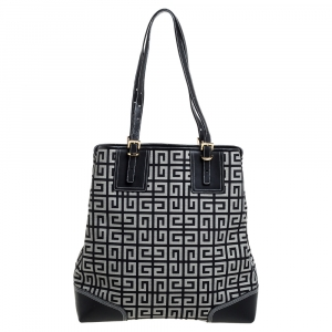 Givenchy Grey Monogram Canvas and Leather  Tote