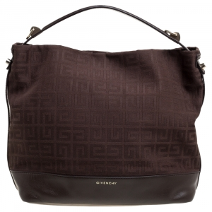 Givenchy Brown Monogram Canvas and Leather Hobo