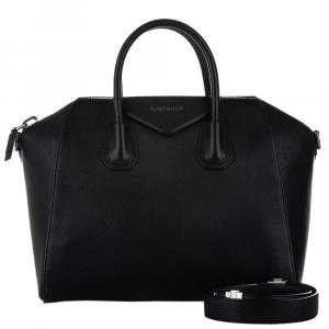 Givenchy Black Leather Antigona Satchel Bag