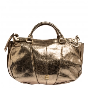 Givenchy Gold Shimmery Leather Medium East West Tote