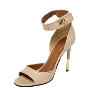 Givenchy Beige Leather Sharklock Sandals Size 37 - used
