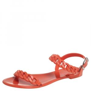 Givenchy Orange Jelly Chain Nea Flats Size 39 - used