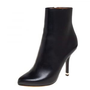 Givenchy Black Leather Ankle Boots Size 36.5 - used
