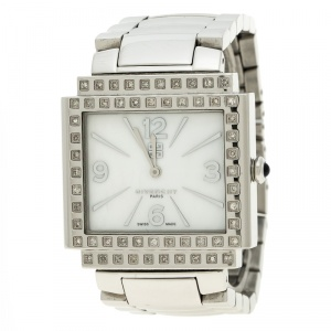 Givenchy White Mother of Pearl Stainless Steel New Apsaras Women's Wristwatch 35 mm
