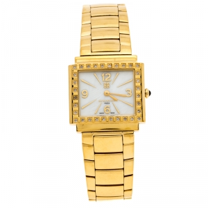 Givenchy Mother of Pearl Gold Plated Stainless Steel Diamonds New Apsaras REG.1558962 Women's Wristwatch 29 mm