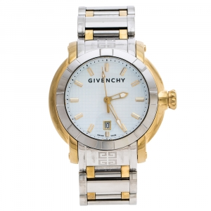 Givenchy White Two-Tone Stainless Steel GV.5202M Men's Wristwatch 44 mm