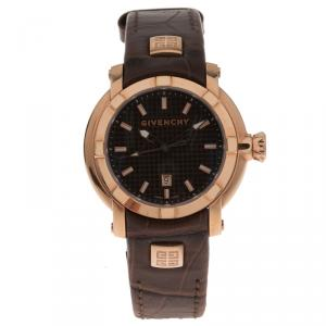 Givenchy Brown Gold-Plated Stainless Steel GV.5202 Women's Wristwatch 36MM