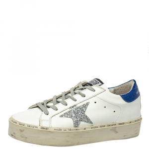 Golden Goose White Leather Hi Star Sneakers Size 37