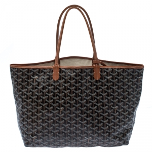 Goyard Brown/Tan Coated Canvas and Leather St. Louis Tote