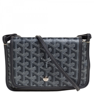 Goyard Grey Goyardine Coated Canvas Plumet Crossbody Bag