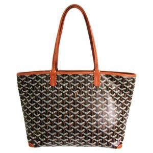 Goyard Black/Brown Coated Canvas Artois PM Tote Bag