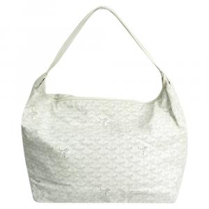 Goyard White Coated Cavas Fidji Bag