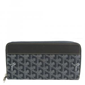 Goyard Grey Goyardline Coated Canvas Matignon Wallet