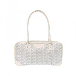 Goyard White Goyardline Coated Canvas St. Martin Satchel Bag