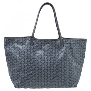 Goyard Grey/White Goyardine Coated Canvas St. Louis GM Tote