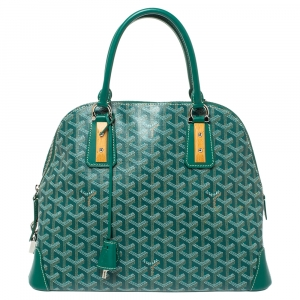 Goyard Green Goyardine Coated Canvas and Leather Vendôme PM Bag