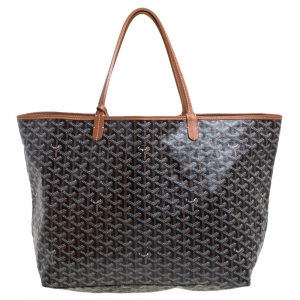 Goyard Brown Goyardine Coated Canvas St. Louis GM Tote