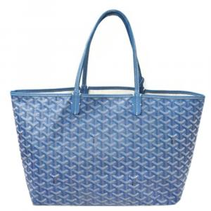 Goyard Blue Goyardine Canvas St. Louis PM Tote Bag