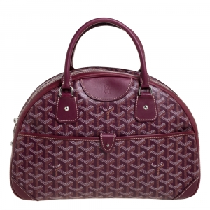 Goyard Burgundy Goyardine Coated Canvas and Leather St. Jeanne MM Bag