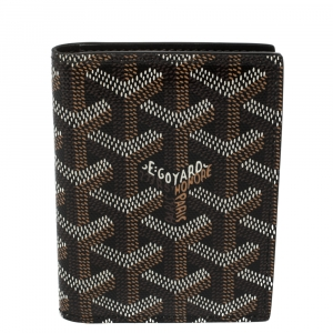 Goyard Black Goyardine Coated Canvas Bi Fold Wallet