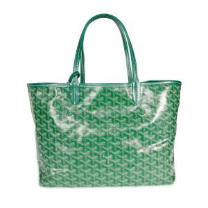Goyard Green Coated Canvas Goyardine St. Louis PM Bag
