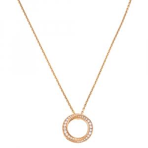 Graff Diamond Spiral Pavé 18K Rose Gold Pendant Necklace