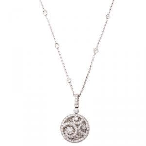 Graff Diamond on Diamond Pavè White Gold Pendant Necklace