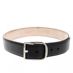 Gucci Black Leather Buckle Belt 85cm