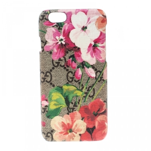 Gucci Beige GG Supreme Blooms Canvas iPhone 6 Case