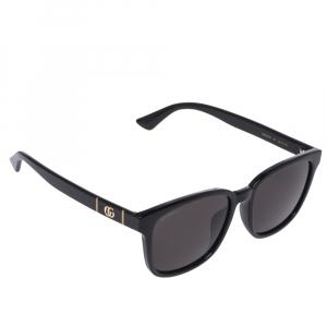 Gucci Black GG0637SK Square Frame Oversized Sunglasses
