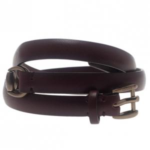 Gucci Triple Tour Horsebit Details Cuir Leather Bracelet 17CM