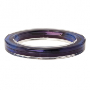 Gucci Metal and Plexiglass Blue Thin Bangle 18.5CM