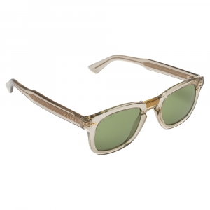 Gucci Bronze Tone/Green GG0182S Square Sunglasses