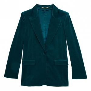 Gucci Velvet Teal Satin Jacket M