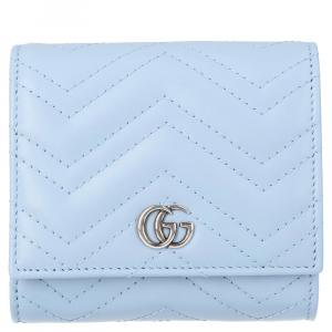 Gucci Light Blue GG Marmont Small Wallet