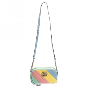 Gucci Multicolor Matelassé Leather Small GG Marmont Shoulder Bag