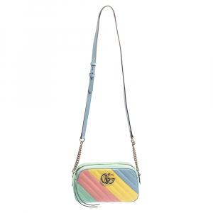حقيبة كتف غوتشي مارمونت جي جي صغيرة جلد مبطنة متعدد الألوان