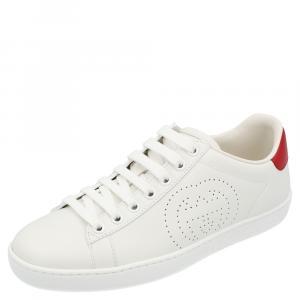 Gucci White Ace Interlocking G Sneakers Size EU 38